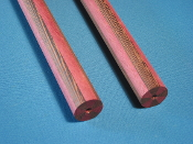 Radial laminated butts     purple heart/wenge