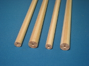 Radial laminated hard maple/ash tapered shaft